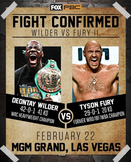 The Tale Of The Tape By True Boxing Fans On Wilder Vs Fury II